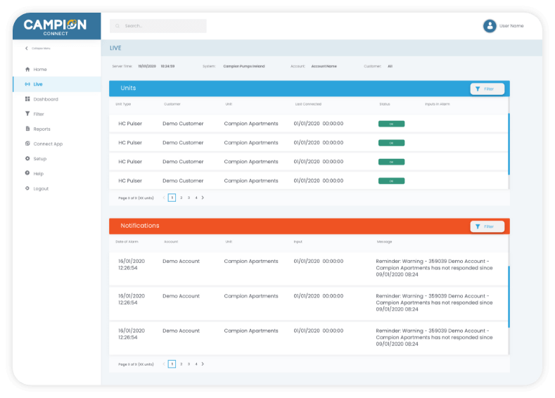 Campion Connect Dashboard