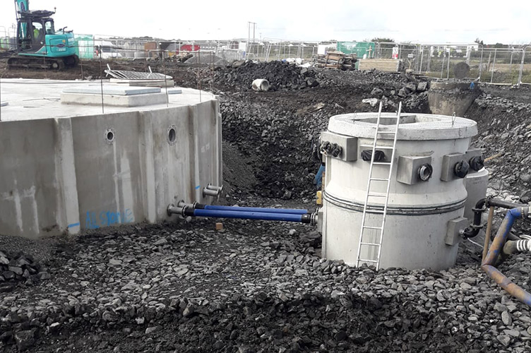 Campions sewage pumping station being installed