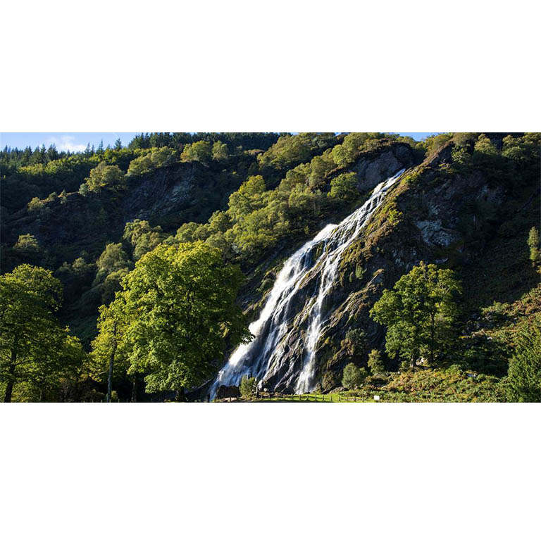 Aerial view of Powerscourt waterfall