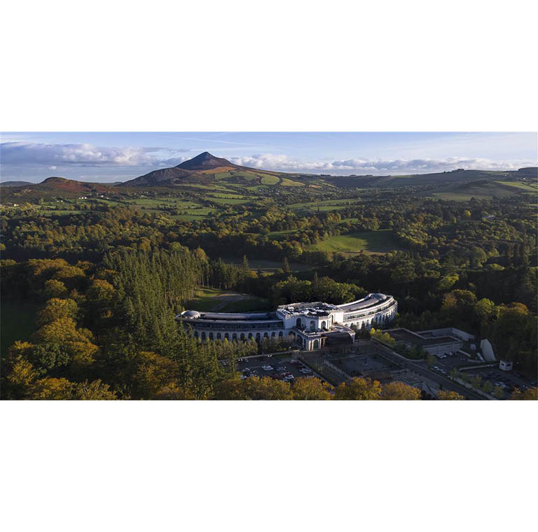 Aerial view of Powerscourt hotel